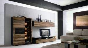 Notice how individual pieces are used together in a simple yet elegant design to create a focal point for the wall