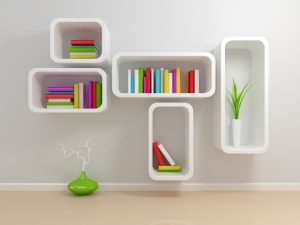 Simple, Colourful and Dynamic; these wall hung book racks will draw out the eye. The mixed arrangement of vertically and horizontally placed books adds to its style quotient.