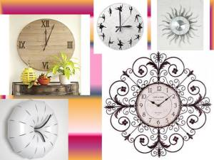 With such beautiful time pieces, you really do not need other wall décor elements!