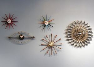 These stylish clocks follow a theme and hence create a very interesting décor element