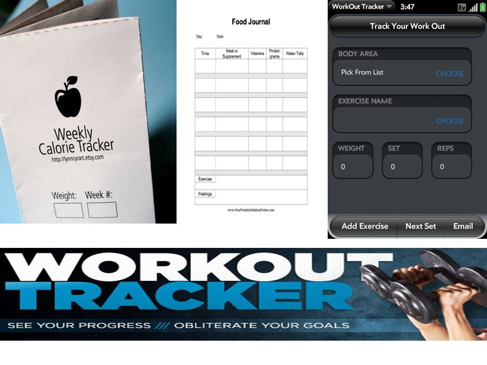 Without a food journal and workout journal, how can you really track your progress?