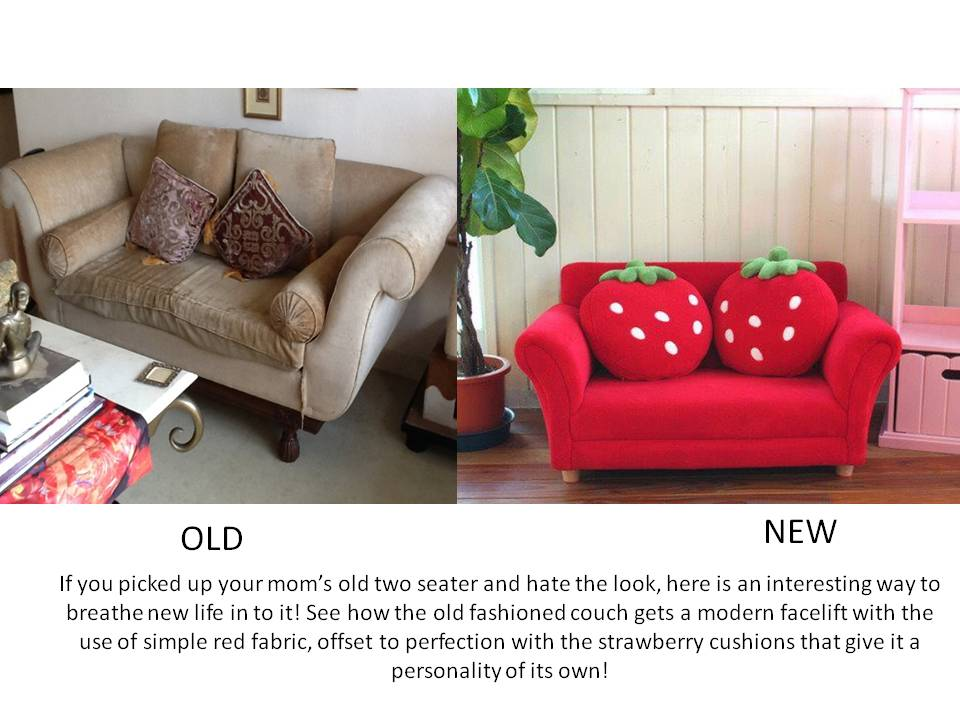Pleasing Old Couch Brand New Look Little Things That Make A Big Alphanode Cool Chair Designs And Ideas Alphanodeonline