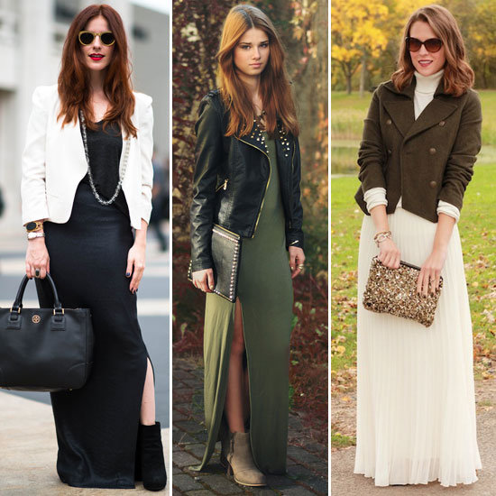 You can pair your maxi skirts with blazers, leather jackets and even corduroys to stay warm
