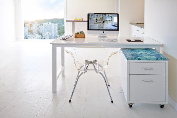 white-lacquer-desk-Home-Office-Contemporary-with-cabinets-Chic-city-view